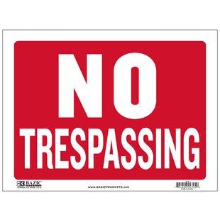 No Trespassing Sign | Wayfair