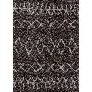 Affordable Olszewski Faux Fur Dark Gray/White Area Rug ByUnion Rustic
