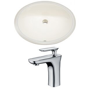 Inexpensive CUPC Ceramic Oval Undermount Bathroom Sink with Faucet and Overflow ByAmerican Imaginations