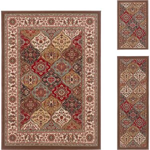 Colesville Brown 3 Piece Area Rug Set