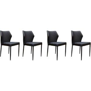 Katya Diamond Tufted Upholstered Dining Chair (Set of 4) Orren Ellis
