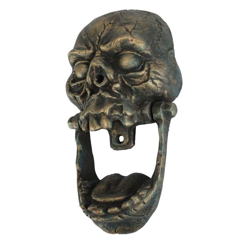 Knock Jaw Skull Cast Iron Door Knocker