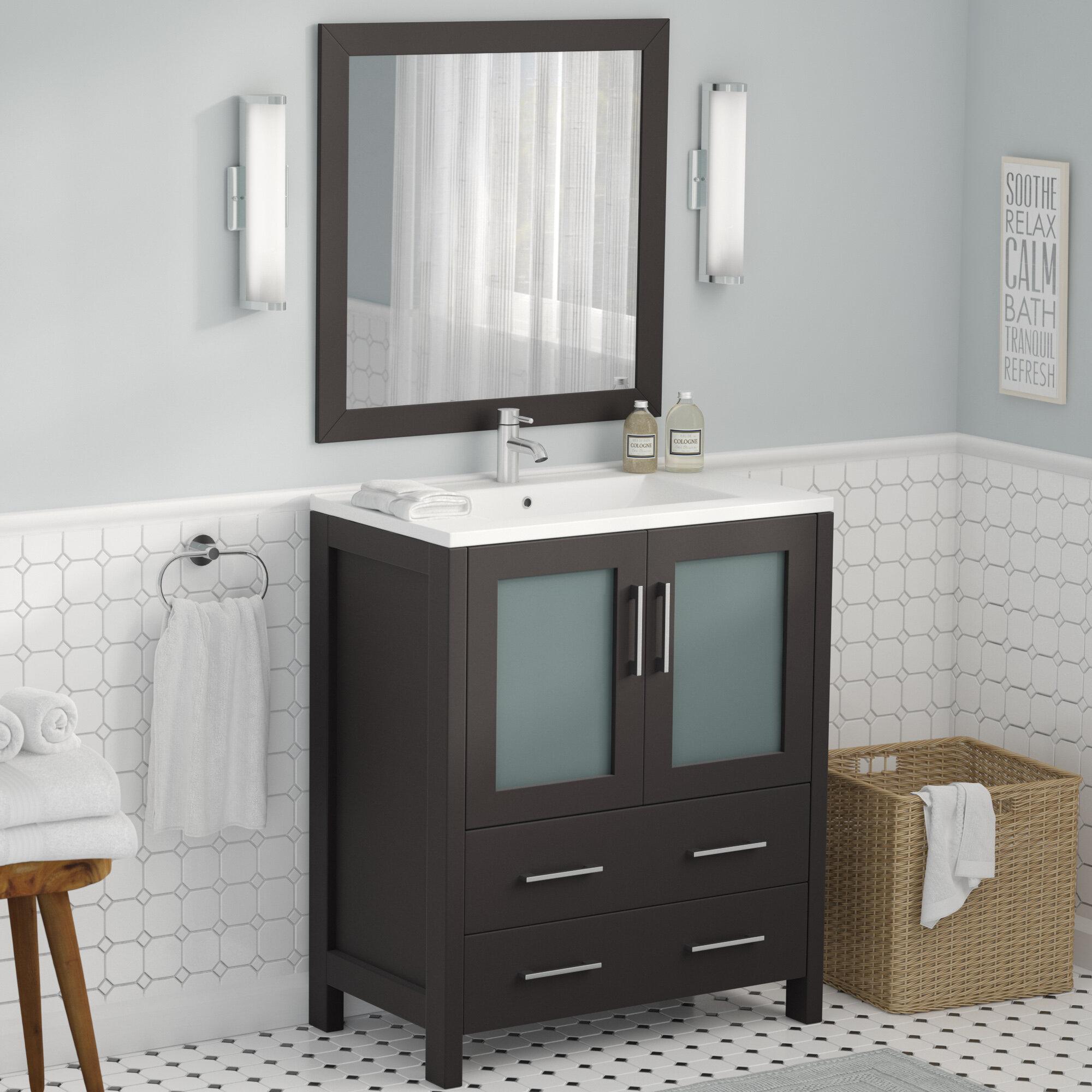 Strange Karson 30 Single Bathroom Vanity Set With Mirror Download Free Architecture Designs Scobabritishbridgeorg