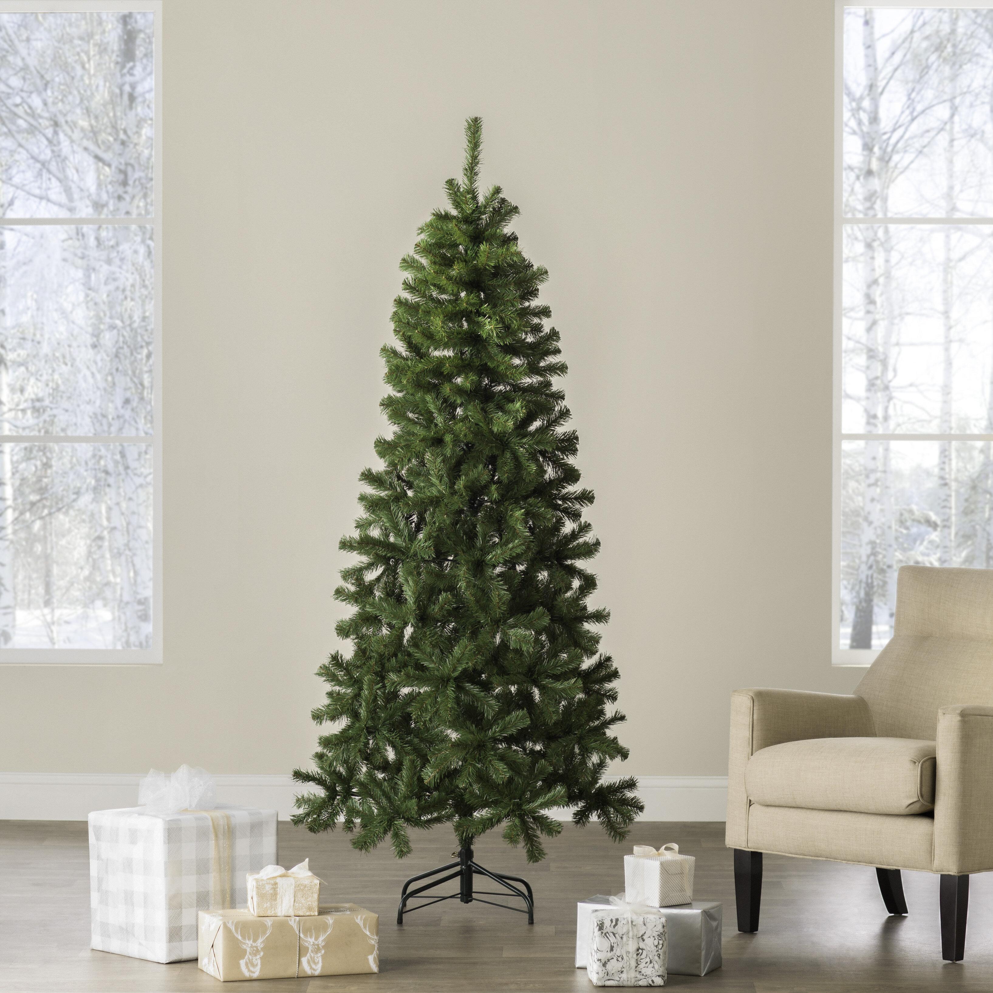 Wayfair Basics Green Fir Artificial Christmas Tree Reviews Wayfair