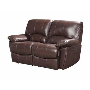 Alicea Leather Reclining Loveseat by Canora Grey