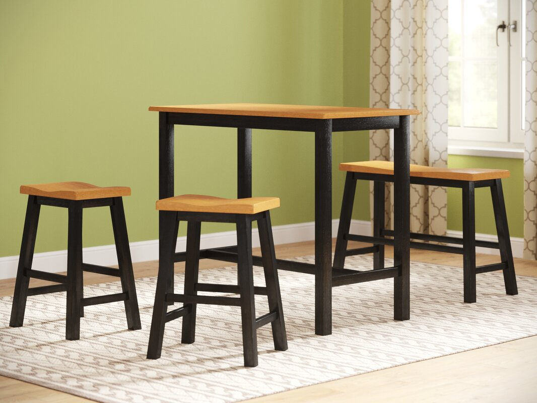 Awesome 4 Piece Table Set Part - 7: Lamantia 4 Piece Counter Height Pub Table Set