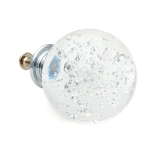 Clear Bubble Glass Round Knob