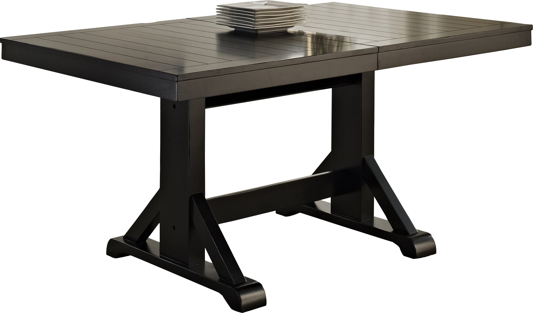 Home Loft Concepts Belfort Extendable Butterfly Leaf Dining Table Reviews Wayfair