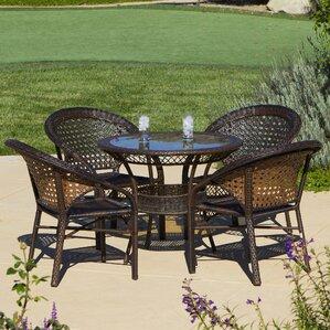 Charis 5 Piece Wicker Outdoor Dining Set Part 86