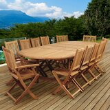 Tregre International Home Outdoor 13 Piece Teak Dining Set