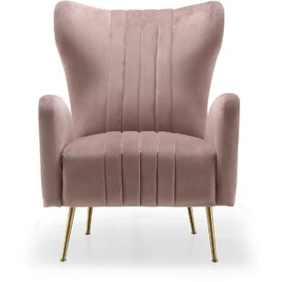 High-End Spady Wingback Chair By Everly Quinn
