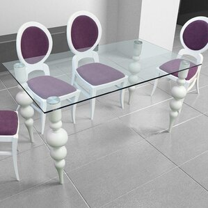 Delux Clear Glass Dining Table by MEBLE NOVA