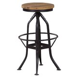 Harbin Adjustable Height Bar Stool by 17 Stories