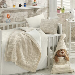 Naturel Wool Blended 6 Piece Crib Bedding Set