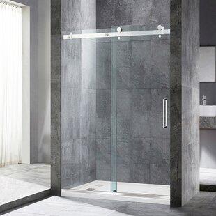 Donald 48 x 76 Single Sliding Frameless Shower Door ByOrren Ellis