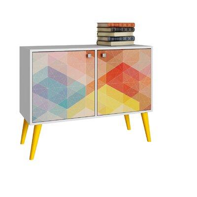 Corrigan Studio Paola Serverr  Color: White/Stamp/Yellow