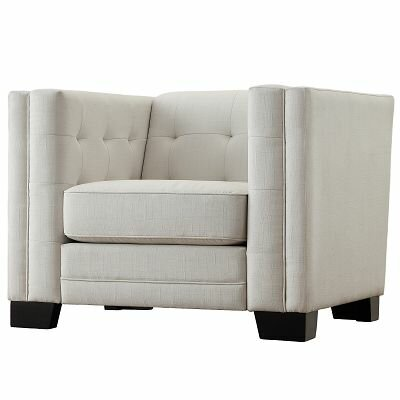 Mercury Row Rolland Square Tufted Upholstered Arm Chair U0026 Reviews | Wayfair