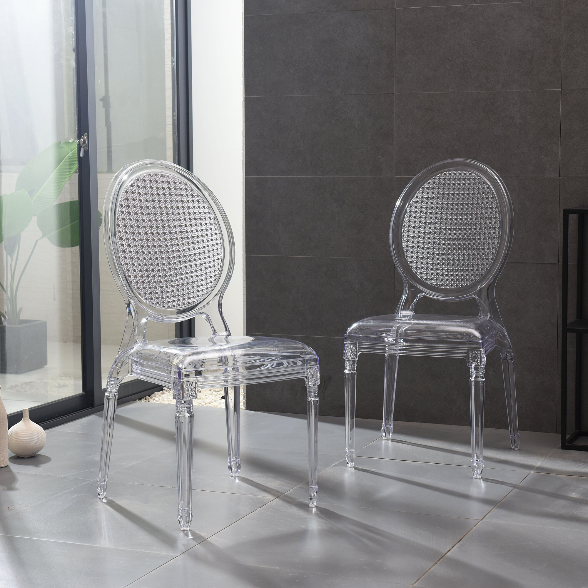 Clear Solid Back Kitchen Dining Chairs You Ll Love In 2021 Wayfair