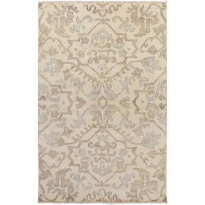 San Michele Hand-Knotted Gray/Beige Area Rug