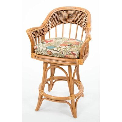 Full Back Wicker Amp Rattan Counter Height Bar Stools You Ll