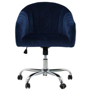 balcom velvet swivel midback desk chairvelvet