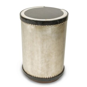 Discoveries Drum End Table by Michael Amini (AICO)