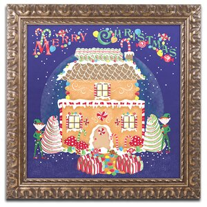 'Xmas Gingerbread House' Framed Graphic Art Print