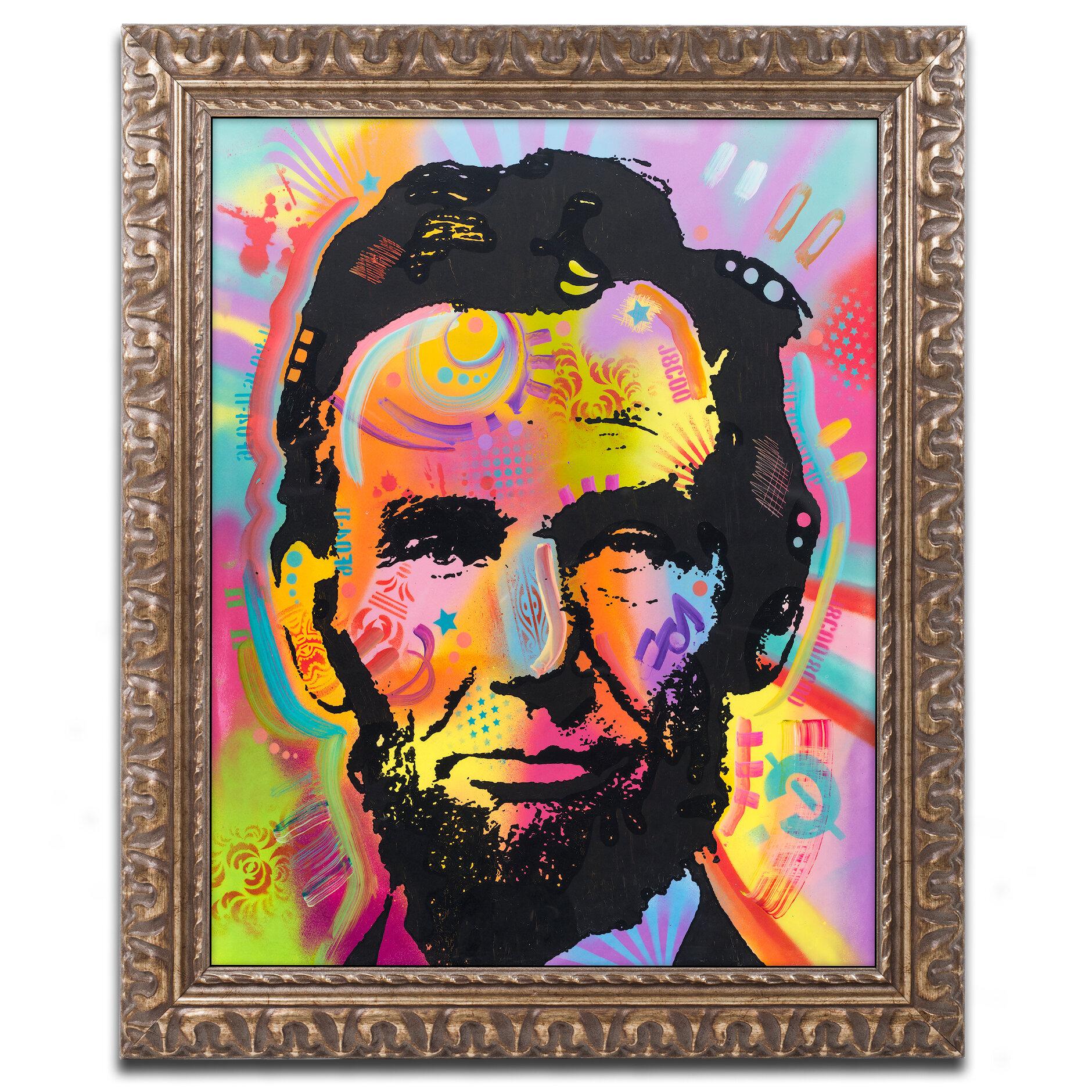 Trademark Art Abraham Lincoln Iv Framed Graphic Art Print Wayfair