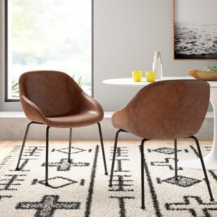Modern Contemporary Leather Slope Dining Chairs Allmodern