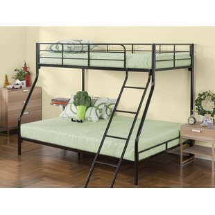 Marisol Quick Lock Metal Twin Over Full Standard Bunk Bed with Dual Ladders