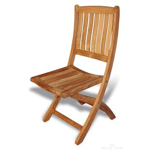 Bullock Folding Teak Patio Dining Side Chair (Set of 2)