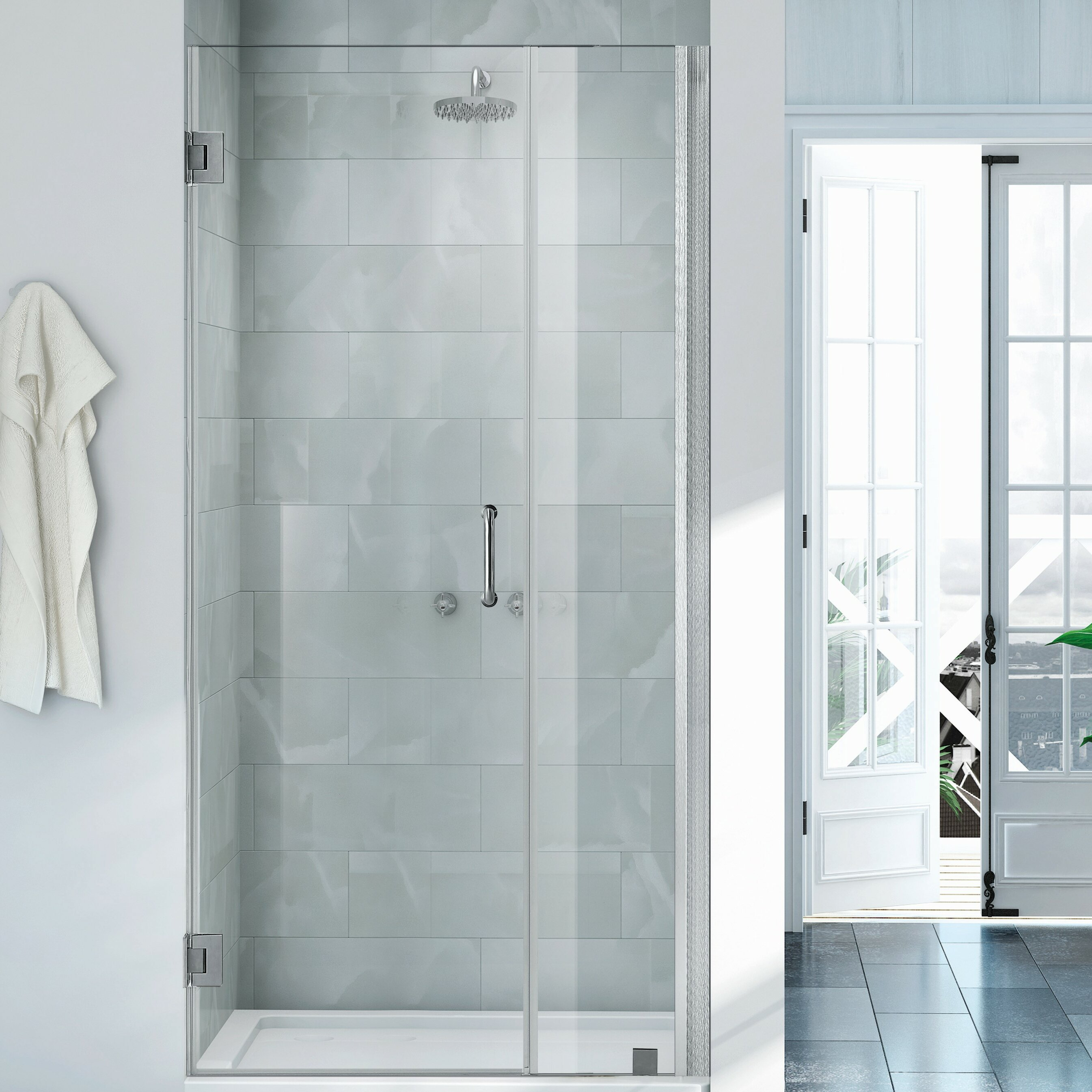 Wet Republic Havana 36 X 72 Hinged Shower Door Wayfair