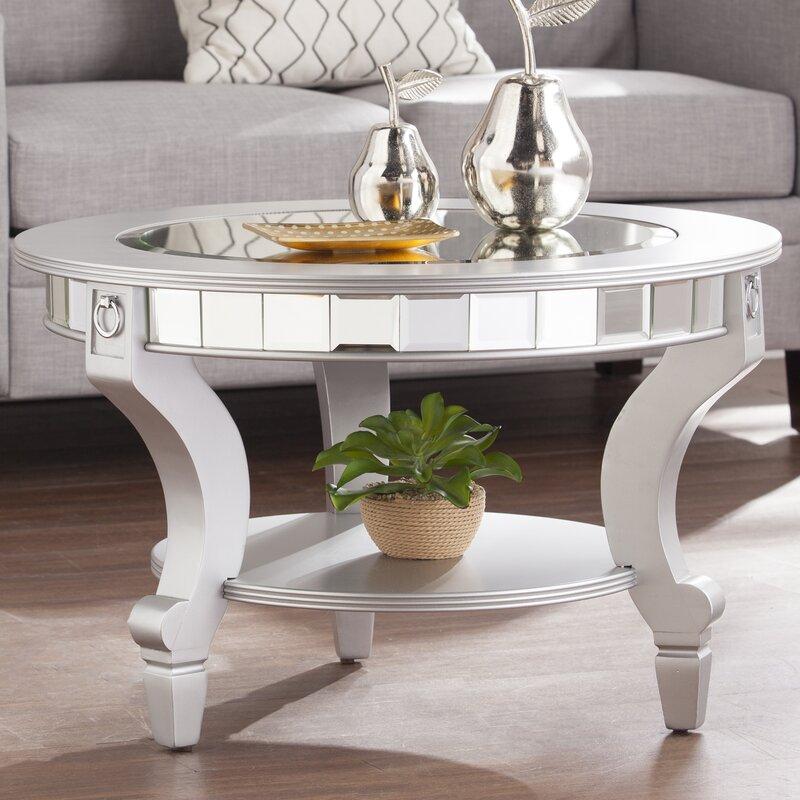 Mirrored Coffee Table willa arlo interiors jocelyn mirrored coffee table & reviews | wayfair