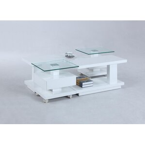 Reynaldo Adjustable Glass Coffee Table Top b..