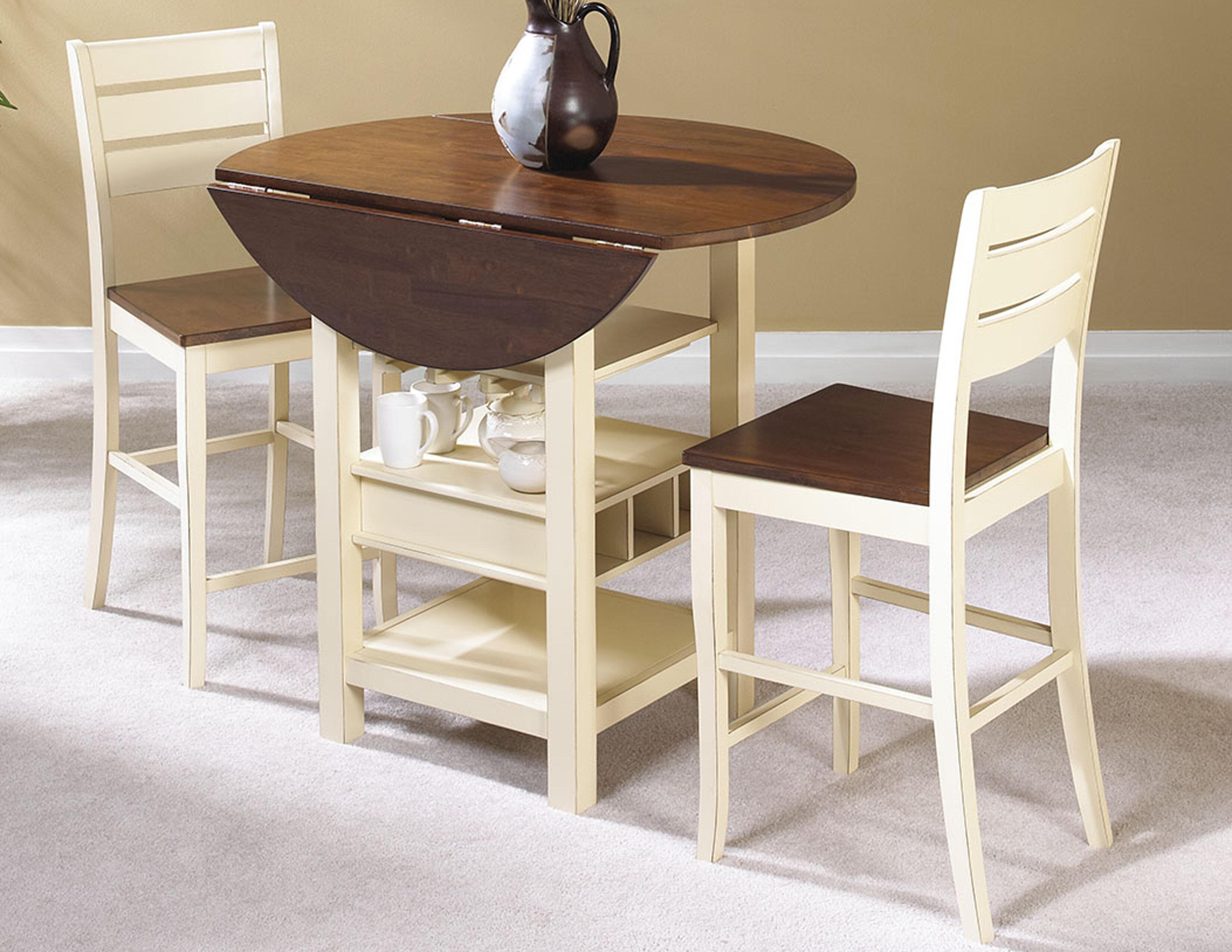 August Grove Ephraim 3 Piece Counter Height Dining Set U0026 Reviews | Wayfair