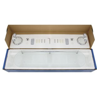 Widener Frosted Glass Wall Shelf