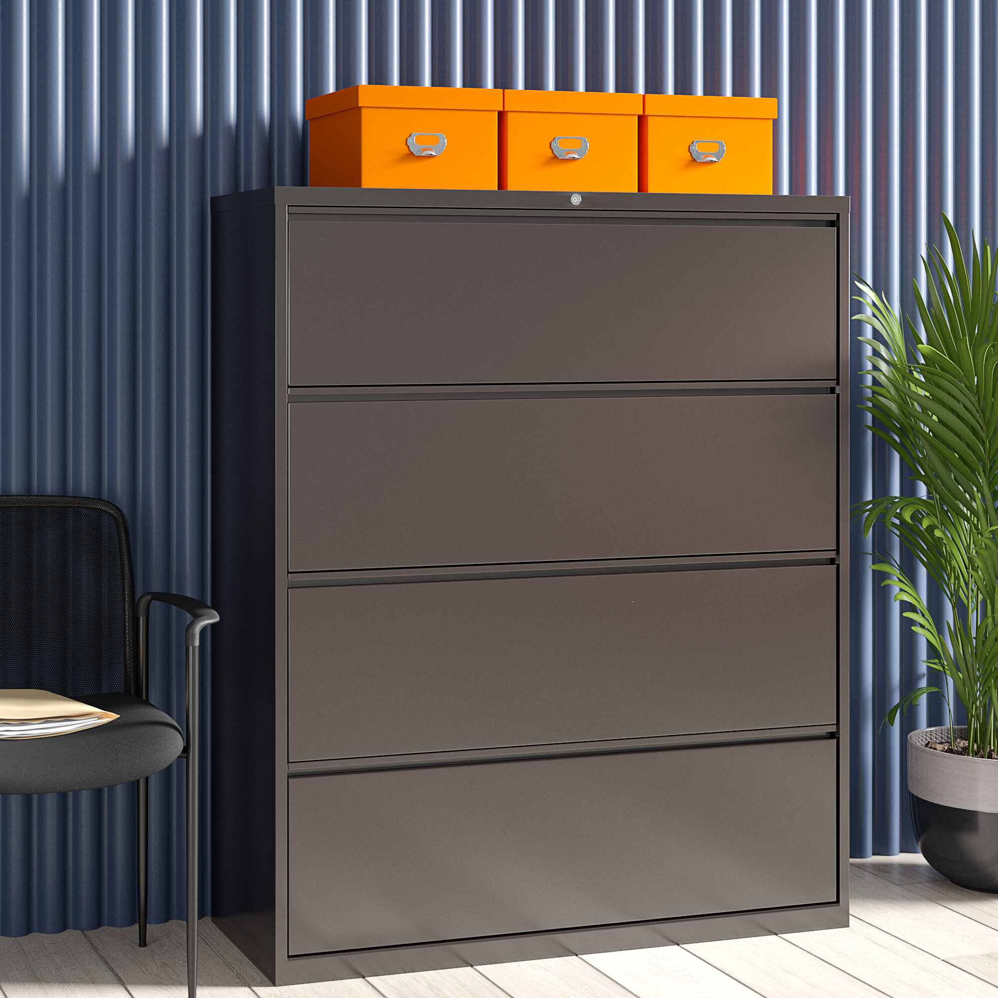 Image of: Lorell Fortress 4 Drawer Vertical Filing Cabinet Wayfair