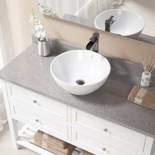 Buying Vitreous China Circular Vessel Bathroom Sink with Faucet and Overflow By MR Direct