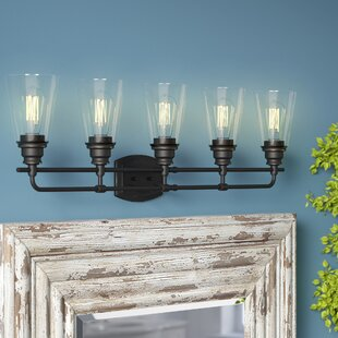 Inexpensive Clayton 5-Light Vanity Light ByLaurel Foundry Modern Farmhouse