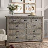 Lockridge 9 Drawer 66'' W Solid Wood Dresser