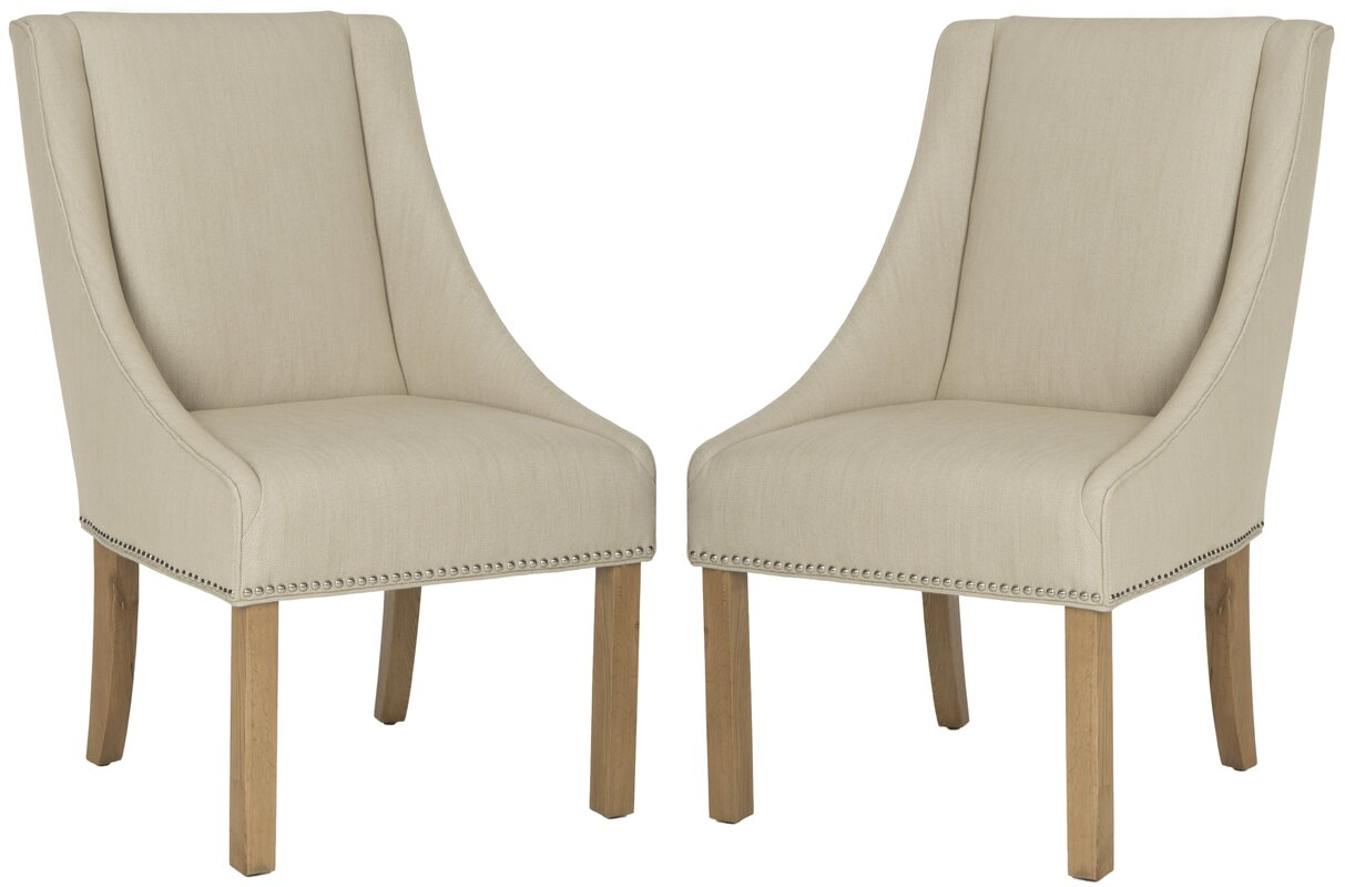 Molly Sloping Arm Chair #linendiningchair #Belgianlinen #Belgianchair