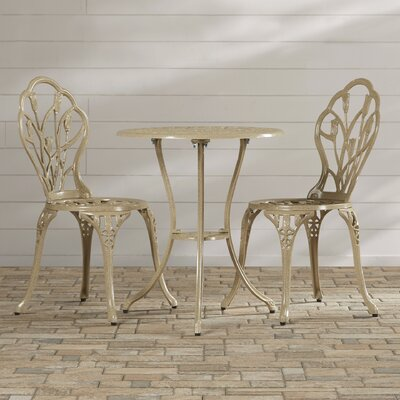 Wilkins 3 Piece Bistro Set by August Grove 2020 Sale