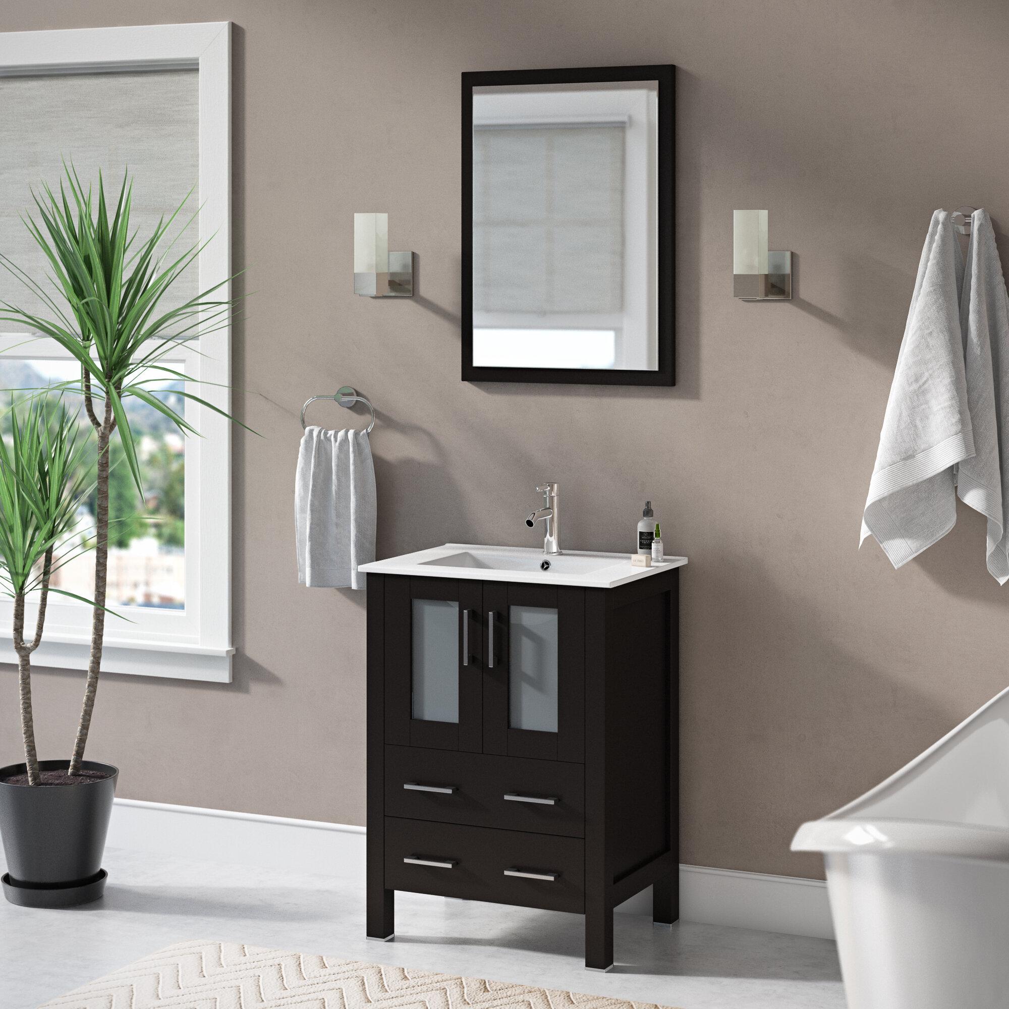 Netto 24 Single Bathroom Vanity Set With Mirror