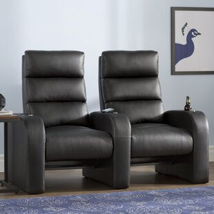 Manual Rocker Recline Home Theater Row Seating (Row of 2) By Latitude Run