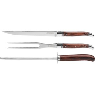 Laguiole carving set wayfair 3 piece laguiole carving set solutioingenieria Image collections