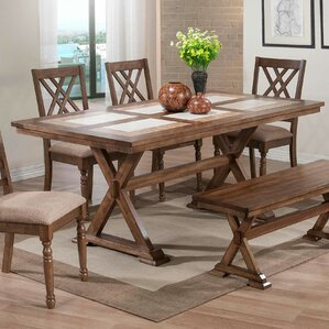Lia Dining Table by Lark Manor