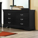 Tippett 6 Drawer Double Dresser by Canora Grey