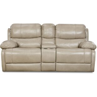 Weccacoe Leather Reclining Loveseat