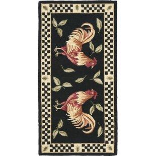 Vintage Poster Black / Ivory Rug Safavieh