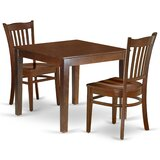 Norlina 3 Piece Solid Wood Dining Set by Winston Porter